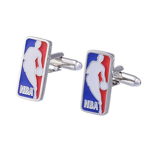 Promotioneer Herren NBA Basketball Team Logo Fashion Shirt Manschettenknöpfe, Herren, 1429