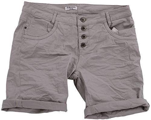STS Damen Jeans Bermuda Short by Boyfriend Look tiefer Schritt Jeansbermuda mit Kontrastnähten Washed (XL, Sand) -