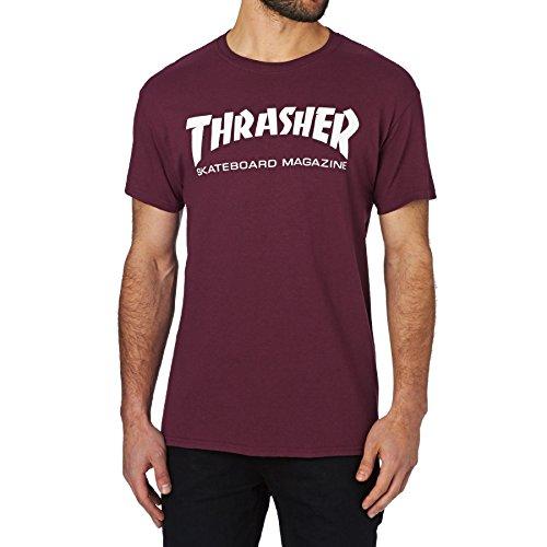 Thrasher - thrasher t-shirt skate mag maroon - m
