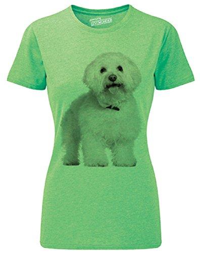 Siviwonder Women T-Shirt Bichon Frise Schoßhund frech Hunde Green Marl