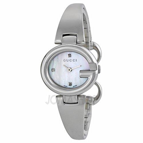 Gucci Gucci Piel Guccissima Diamante Madre de Perla Dial Acero inoxidable Acero Damas Reloj YA134504