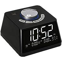 Decdeal-Despertadores Inteligentes para Dormitorios Reloj Digital con Luz Nocturna Radio FM Pantalla de Volumen Ajustable Regulador de Temperatura