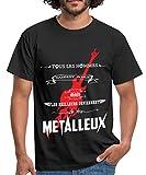 Spreadshirt Les Deviennent Metalleux T-Shirt Homme, L, Noir