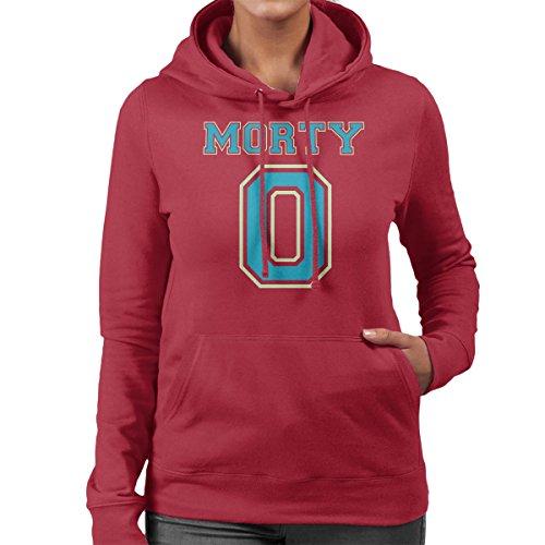 Rick and Morty Morty Zero Women's Hooded Sweatshirt Cherry Red
