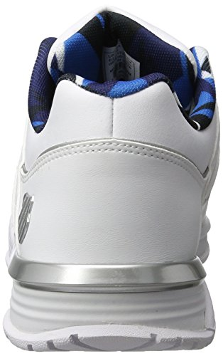 K-Swiss Herren Baxter Low-Top Weiß(WHITE/WHITE/NAVY 173)