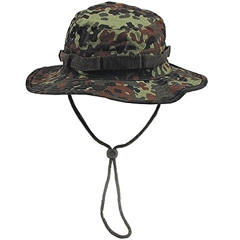 Diverse - Cappello da pescatore in stile militare con motivo