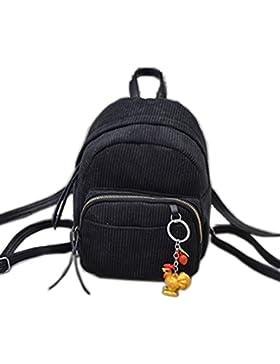 Oruil Mode Hochschule Mini Schultertasche Einfarbig Küken Anhänger Kleine Rucksack Einfache Schulter Kuriertasche
