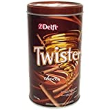 Delfi Twister Chocolate Wafer Roll with Cream, 320g