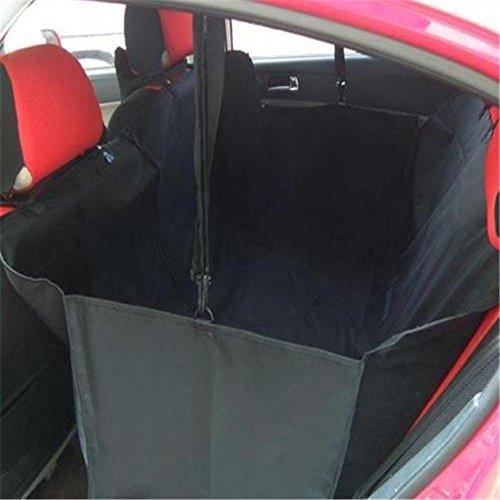Hängematte Sitzbezug (Minidiva Faltbare Wasserdichte Hundeauto Sicherheit Hängematte Sitzabdeckung für Tiere (Black))