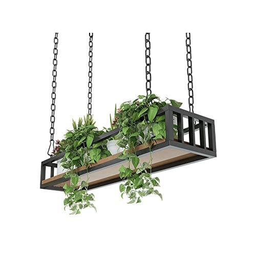 BWHTY Rack Retro Decken-Art Blumen-Stand-Eisen-Kunst-Wand-hauml,ngendes Wand-Regal verschobene Decken-Speicher-Gestell-Innenbalkon-dekoratives Blumen-Gestell (Grouml,ß,e : 60×,25×,15cm) Decke Regale