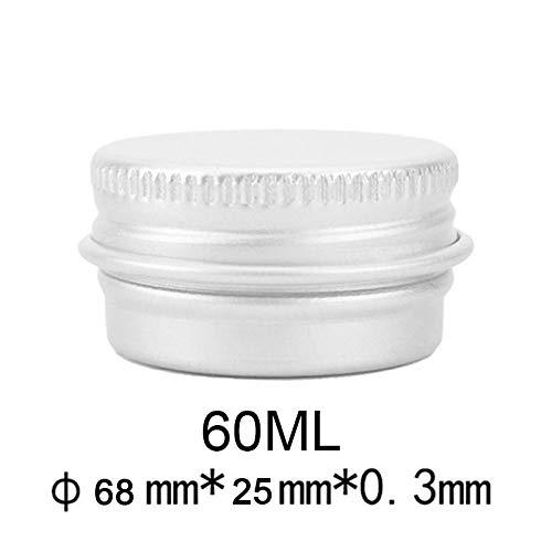 n mit Schraubdeckel, Behälter aus Metall, Aufbewahrungsdose für Lippenbalsam, Kosmetik, Pulver, Tee ()