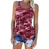 COZOCO 2019 HeißE Verkaufende Leibchen-Oberseiten Plus GrößEn-Art- Und Weisefrauen-Hemd-Tarnung Gedrucktes T-Shirt-äRmellose Oansatz TräGershirt-Bluse