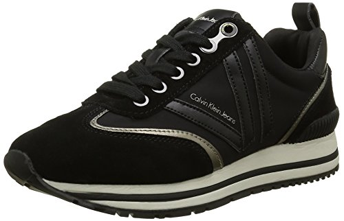 Calvin Klein Timberly Soft Nylon/suede, Sneakers Basses femme - Multicolore - Mehrfarbig (bpw), 39