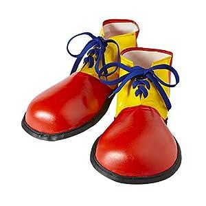 WIDMANN wdm9146p?Disfraz para adultos zapatos payaso tamaño adulto, multicolor, talla única