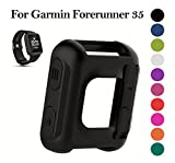 SongNi® Soft Silicone Sleeve Fitness Band Cover Protective Coque for Garmin Forerunner 35 GPS Smart Watch-Black(tracker is not included)