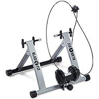 """Klarfit Tourek - Rouleau d'entrainement à résistance magnétique vélo en intérieur (résistance réglable sur 7 Niveaux, Fixation Roue Facile Roues 26 28"""")"""