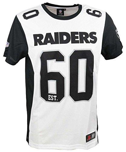 Majestic T-Shirt - NFL Oakland Raiders Dene Poly Mesh Weiß/Schwarz Größe: L (Large)