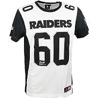 Majestic T-Shirt – NFL Oakland Raiders Dene Poly Mesh Weiß/Schwarz