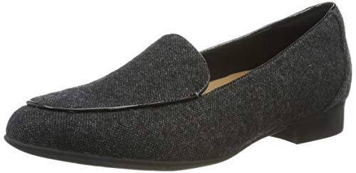 Clarks Un Blush Ease, Mocasines para Mujer, Gris Grey Textile Grey Textile, 37 EU