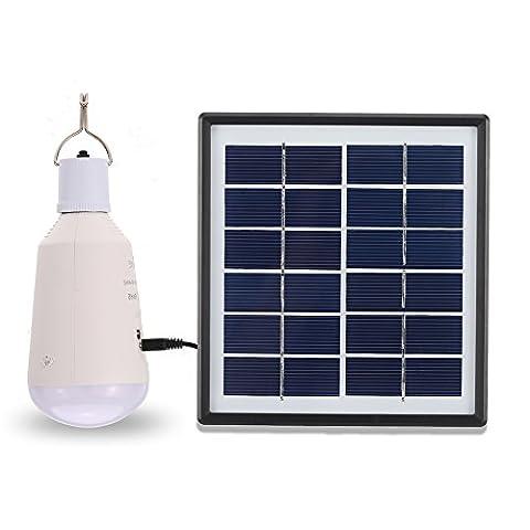 TOMSHINE 7W 14LEDs 560LM Solar Glühbirne mit 6V 0.3A 1.8W Solar Panel USB Solarladegerät für Outdoor Camping Hiking