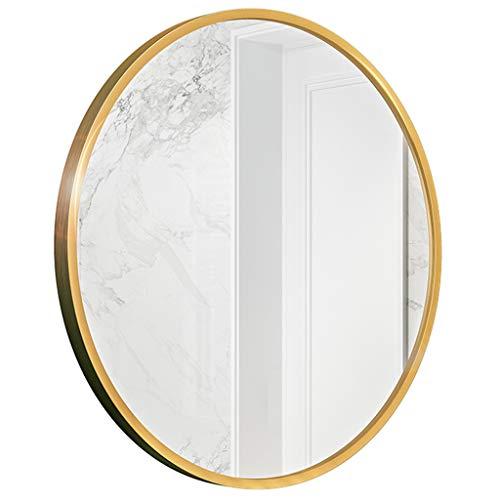 GYX- Deko Modernes Badezimmer Dusche Wandspiegel Rasierspiegel Echtglas Spiegel - Runde für Eingangspassage, Schlafzimmer, Wohnzimmer usw. (Durchmesser: 30-60 cm Gold)
