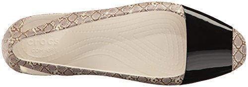 Crocs Sienna Shiny Anim Flat W, Ballerine Donna Multicolore (Snake)