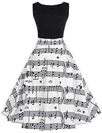 Amazon.it  vestiti anni 50 - Bianco   Vestiti   Donna  Abbigliamento f528d98bf7e