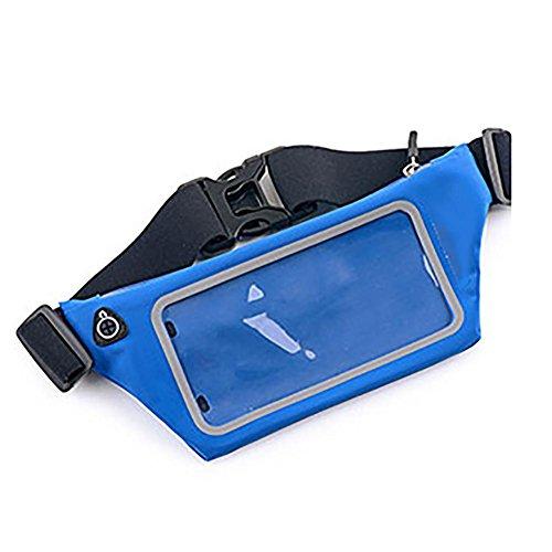 MIAO Running Blet Touch Screen 6 Zoll schließen unsichtbare Anti-Diebstahl wasserdicht blue
