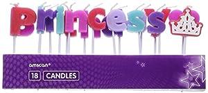 Amscan 9900054Princess velas de Pick