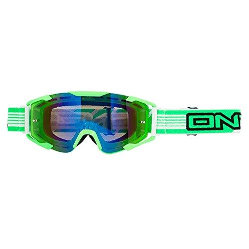 O'Neal B2 RL Goggle THREESIXZERO Grün Radium verspiegelt Brille Motocross Downhill MX DH FR, 6032T-203