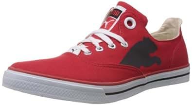 Puma Men's Limnos Cat Red Canvas Sneakers - 8 UK/India (42 EU)