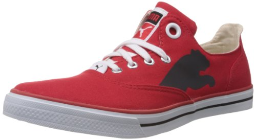Puma Men's Limnos Cat Red Canvas Sneakers - 10UK/India (44.5EU)  available at amazon for Rs.1299