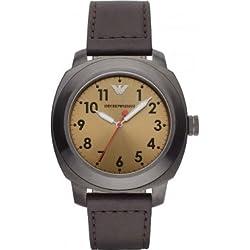 Emporio Armani Herren-Armbanduhr XL DELTA Analog Quarz Leder AR6058