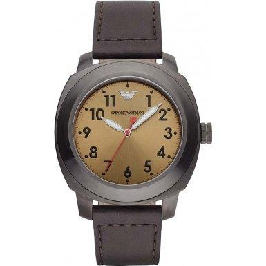 Emporio Armani Men's Quartz Watch with Black Dial Analogue Display Quartz AR6058