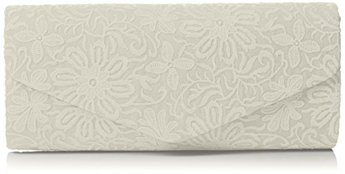 SwankySwansJulia Lace Sequin Clutch Bag Black - Sacchetto donna Ivory