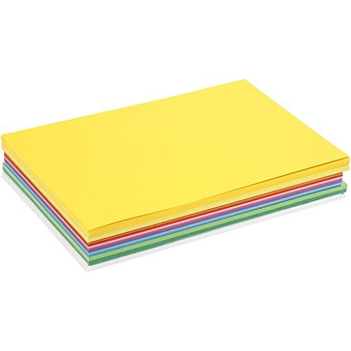 20 Blatt Bastelkarton DIN A2 Frühlingsfarben-artdee®-180g/m²