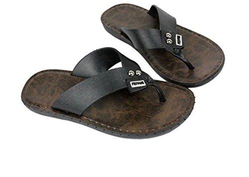 Men's Fashion Beach Flip Flops Slippers Black
