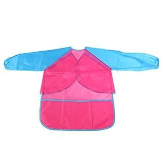 VORCOOL Wasserdichte Malschürze mit Taschen für Kinder (Rot + Blau)