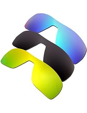 2d0c31e58f0 Hkuco Plus Mens Replacement Lenses For Oakley Offshoot Blue Black 24K Gold  Sunglasses