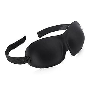 Schlafmaske, Rixow Schlafbrille mit innovativ gewölbter Form für komplette Dunkelheit und freies Bewegen der Augen für die Schlafenszeit und Reisen, Einheitsgröße, Schwarz