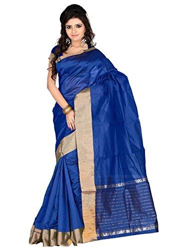Roopkala Silks & Sarees Poly Cotton Saree(SH-1312_Royal Blue)