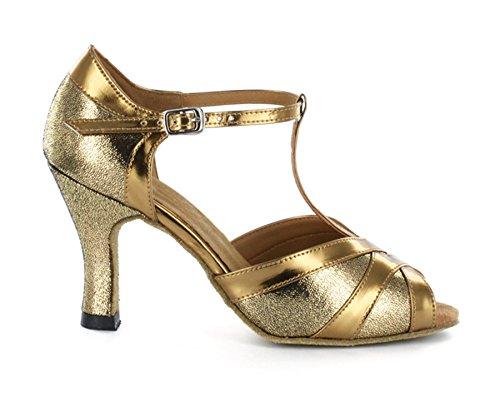 Minitoo ,  Damen Tanzschuhe , Gold – gold – Größe: 39 - 2