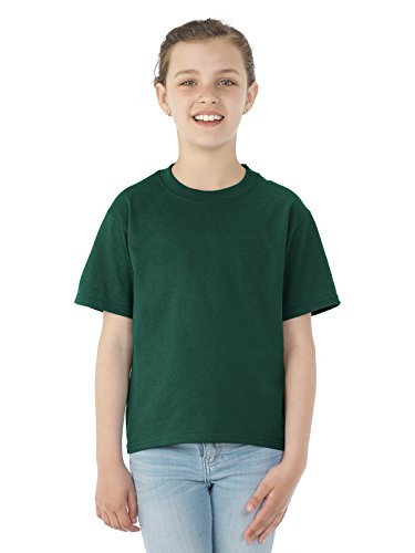 JERZEES Heavyweight Blend 50/50 Jugend T-Shirt, Forest Green, X-Large (Heavyweight Jerzees Blend)