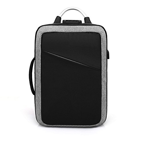 Business Schultertasche für Männer Männer Geschäft Schulter Tasche Notebook 15,6 Zoll anti-Diebstahl Männer multifunktionale Rucksack, grau (Notebook-abschnitt Gepolsterte)