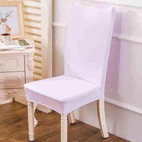 SSLBOO 2 stücke Elastische Stuhlabdeckung für Computer Esszimmer Küche Büro Bunte Bedruckte Stuhlhussen Spandex Sitzbezug Hochzeit-Weiß, one Size