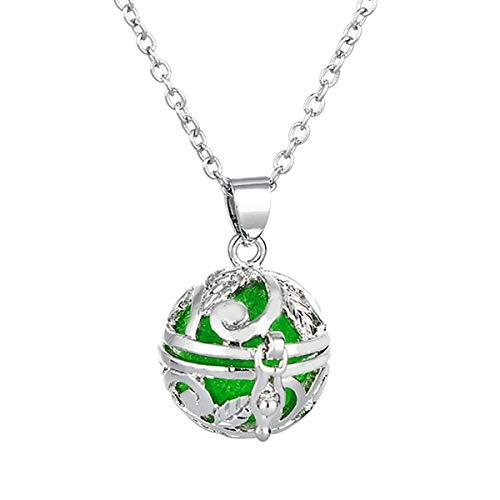 HOUSWEETY Collier Pendentif Cage Boule Creux Aromatique Diffuseur de Parfums ou d'Huiles Essentielles