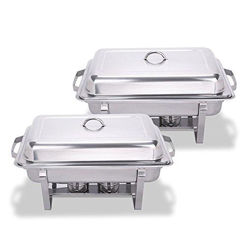 Chaneau Chafing Dish Combustible Acier Inoxydable Plat Rchaud 8 Quart Base Pliable Lot