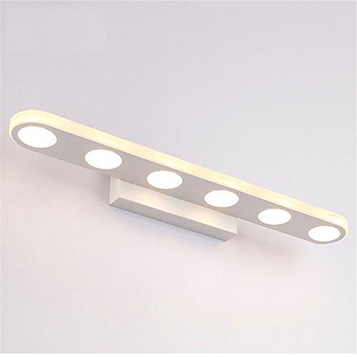 Badezimmer Badezimmer led Feuchtigkeit Spiegel vorderen Leuchte Schlafzimmer Wand lampe Make-up Tisch Spiegel lampe Wand, 37 cm rund, Warm White 12 W (12 Runden Tisch Spiegel)
