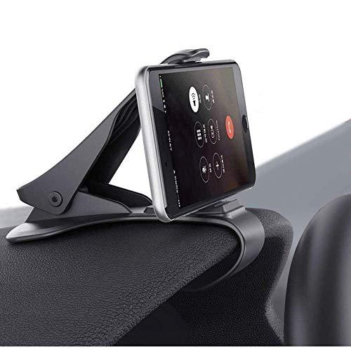 Handyhalterung Auto Kfz Armaturenbrett,ZOORE Smartphone GPS Clip-Halterung für iPhone X 8 7 Plus Galaxy Hinweis 8 S9 S8 Plus S7 Edge und 3-7 Zoll Smartphones (Black) (Für Handy-clip Auto)