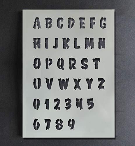 Halloween Alphabet Schablone A-Z 0-9 Farbe Personalisieren Ihr Halloween Projekte mit Diesem Wiederverwendbar Buchstabe & Zahl Schablone Heim Dekoration Kunst Handwerk Ideal Stencils - Multipack S/M/L